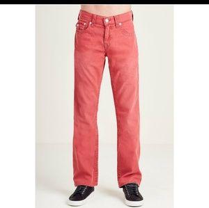 True Religion Jean's Big T Straight Red 31